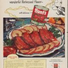 "1952 Hunt's Ad ""Pork Chops"""