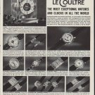 """1952 LeCoultre Ad """"For Your Most Exceptional Giving"""""""