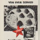"""1952 Comet Rice Ad """"fluffiest"""""""
