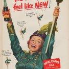 "1952 Royal Crown Cola Ad ""feel ... NEW"""