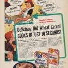 "1952 Ralston Purina Ad ""Delicious Hot Wheat Cereal"""