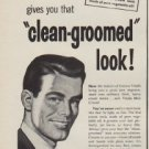 "1950 Vitalis Ad ""clean-groomed look"""