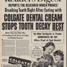"""1950 Colgate Ad """"July Reader's Digest"""""""