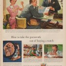 """1950 Watchmakers of Switzerland Ad """"the guesswork"""""""