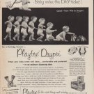 "1952 Playtex Ad ""Baby votes the DRY ticket"""