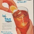 """1952 Tea Council Ad """"Best Summertime Refresher"""""""