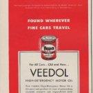 """1952 Veedol Motor Oil Ad """"Fine Cars"""""""