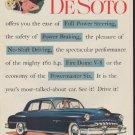 "1952 De Soto Ad ""Full Power Steering"""