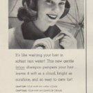 "1952 White Rain Shampoo Ad ""sunshine bright"""