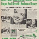 "1952 Amm-i-dent Tooth Paste Ad ""Amazing New Discovery"""