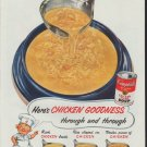 """1954 Campbell's Soup Ad """"Chicken Goodness"""""""