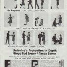 "1961 Listerine Ad ""Be Prepared"""