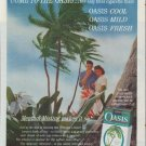 """1961 Oasis Cigarettes Ad """"Come to the Oasis"""""""