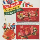 "1961 Wilson's Canned Meats Ad ""International Sandwich Fair"""