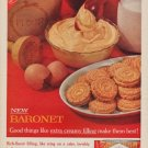 """1961 Baronet Cookies Ad """"extra creamy filling"""""""