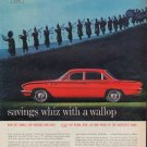 "1961 Buick Ad ""savings whiz with a wallop"""