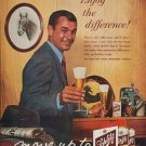 """1961 Schlitz Beer Ad """"Enjoy the difference"""""""