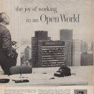 """1961 L*O*F Glass Ad """"Open World"""""""