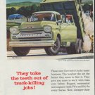 """1958 Chevrolet Ad """"Task-Force Trucks"""""""