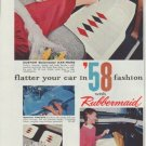 "1958 Rubbermaid Ad ""flatter your car"""