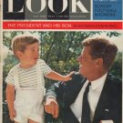 """1963 LOOK Magazine Cover Page """"The President and His Son"""""""