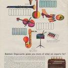 "1963 Baldwin Organ Ad ""Orga-sonic"""