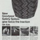 """1965 Goodyear Tires Ad """"Safety Spikes"""""""