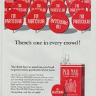 """1965 Pall Mall Cigarettes Ad """"There's one in every crowd!"""""""
