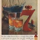 "1960 Seagram's Ad ""calm hour"""