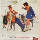 """1960 Seven-Up Ad """"No ifs -- ands -- or butts"""""""