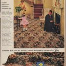"1960 Lees Carpet Ad ""Carpet that loves company"""