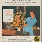 """1960 Florists' Telegraph Delivery Ad """"see your gift"""""""