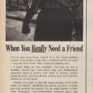 """1960 National Association of Insurance Agents Ad """"a Friend"""""""