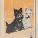 "1960 Black & White Scotch Ad ""Company's Coming"""