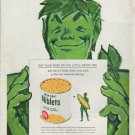 """1960 Green Giant Ad """"the little green dot"""""""