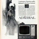 "1962 Admiral TV Ad ""A masterpiece of precision quality"""