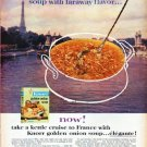 "1961 Knorr Soup Ad ""faraway flavor"""