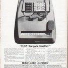 "1961 Bohn Contex Calculator Ad ""Brainchild"""