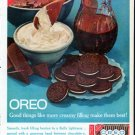 """1961 Oreo Cookies Ad """"more creamy filling"""""""