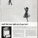 """1961 Norge Washer Ad """"wash that man"""""""