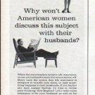 "1961 New England Life Ad ""American women"""