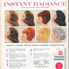 "1961 COTY Hair Color Ad ""Instant Radiance"""