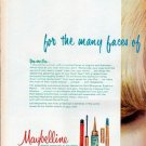 "1961 Maybelline Ad ""for the many faces"""