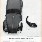"1961 Volkswagen Ad ""half the car"""