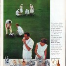 "1961 Seagram's Whiskey Ad ""The royal game of bowls"""