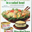 "1961 Star-Kist Tuna Ad ""High-Protein Dinner"""