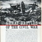 """1961 LIFE Civil War Booklet Ad """"Great Battles"""" ... advertisement only"""