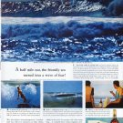 """1961 Canadian Club Whisky Ad """"A half mile out"""""""