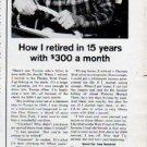 "1962 Phoenix Mutual Life Insurance Ad ""retired in 15 years"""