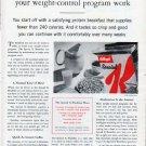 """1962 Kellogg's Ad """"Special K Breakfast"""""""